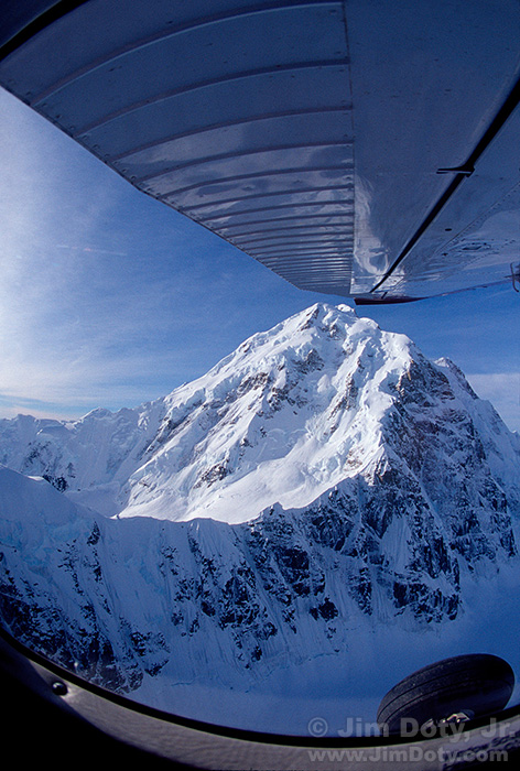 Mount Hunter from a Bush Plane. Denali National Park. Alaska.