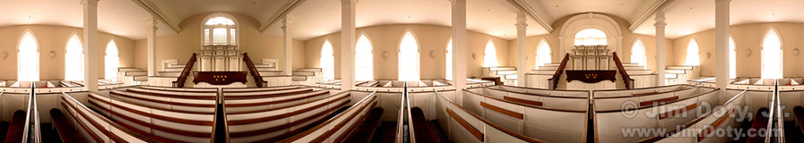 Kirtland Temple, Lower Court Panorama. March 11, 2004.