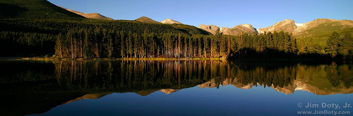Sprague Lake Panorama, Rocky Mountain National Park, Colorado.