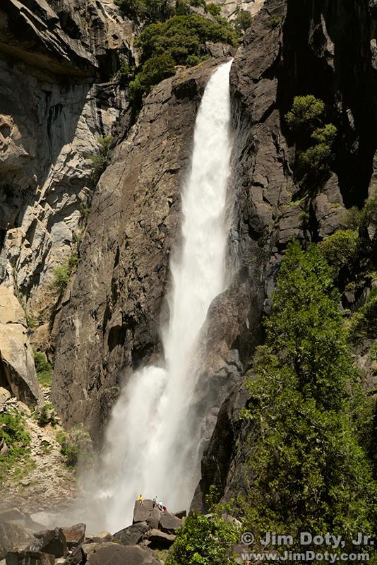 Lower Yosemite Falls, Yosemite National Park, California.
