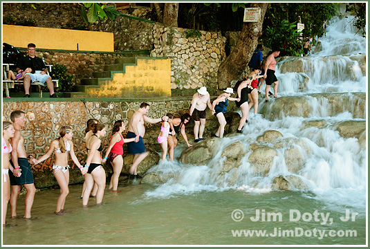 Dunn's River Falls, Jamaica. Photo copyright Jim Doty Jr.