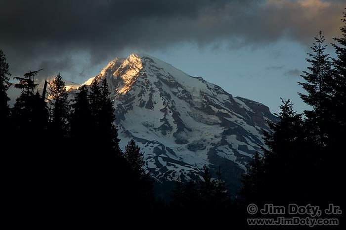 Last Light on Mt. Rainier