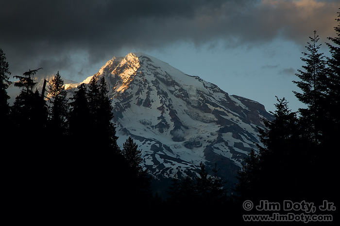 Last Light on Mt. Rainier