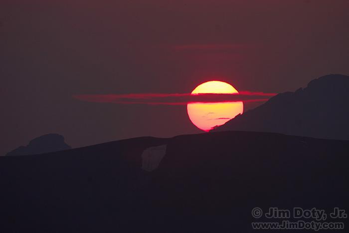 Sunset from Rock Cut, Trail Ridge Road