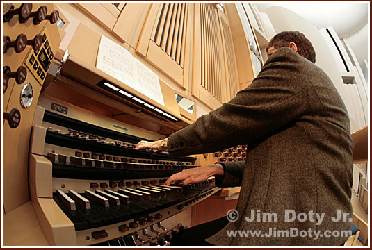 The Organist. Photo copyright Jim Doty Jr.