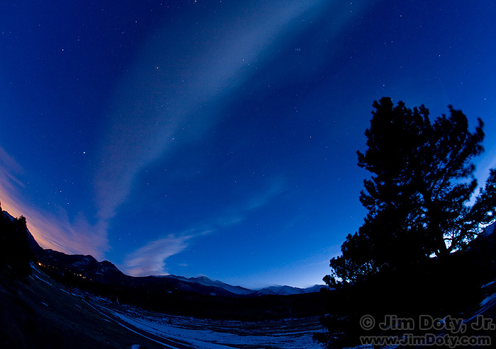 Twilight, Rocky Mountain National Park.