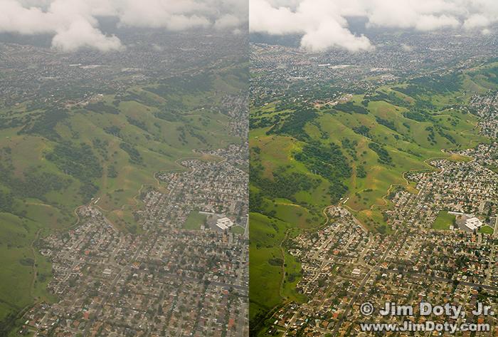 Aerial Photo Before and After Processing
