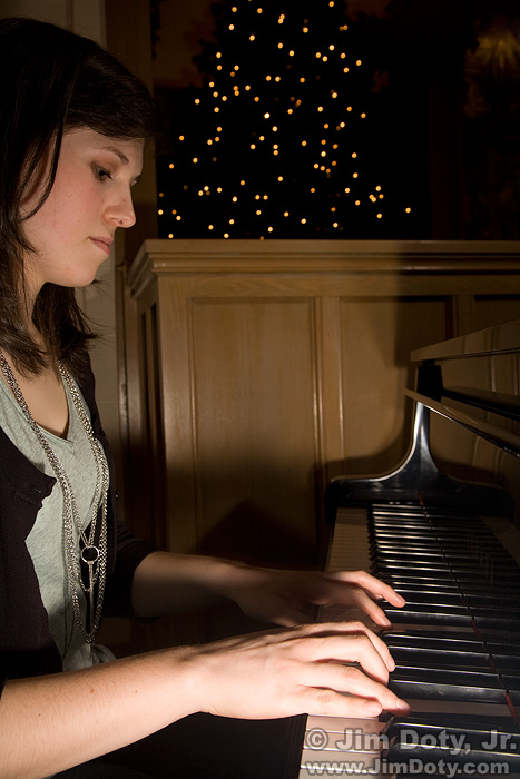 Pianist with On-Camera Flash