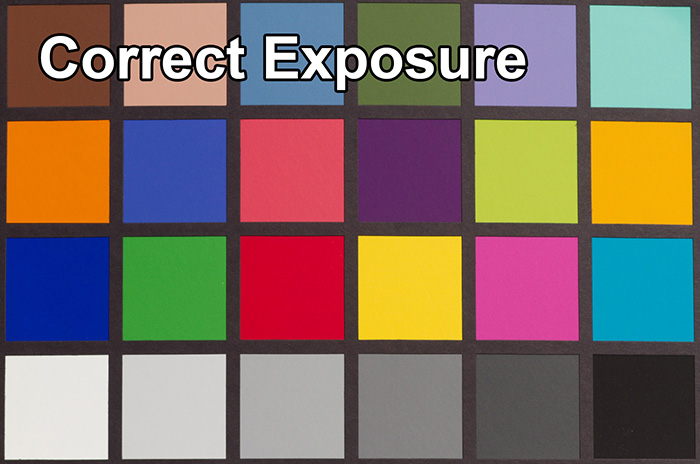 ColorChecker Proper Exposure