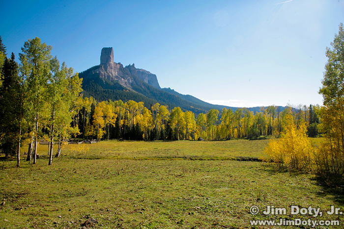 Deb's Meadow and Chimney Rock, Owl Creek Pass, Colorado