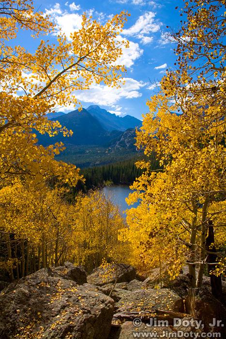 Aspen, Bear Lake, and  Long's Peak, Rocky Mountain National Park