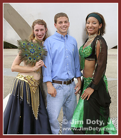 Ryan and Belly Dancers. Photo copyright Jim Doty Jr.