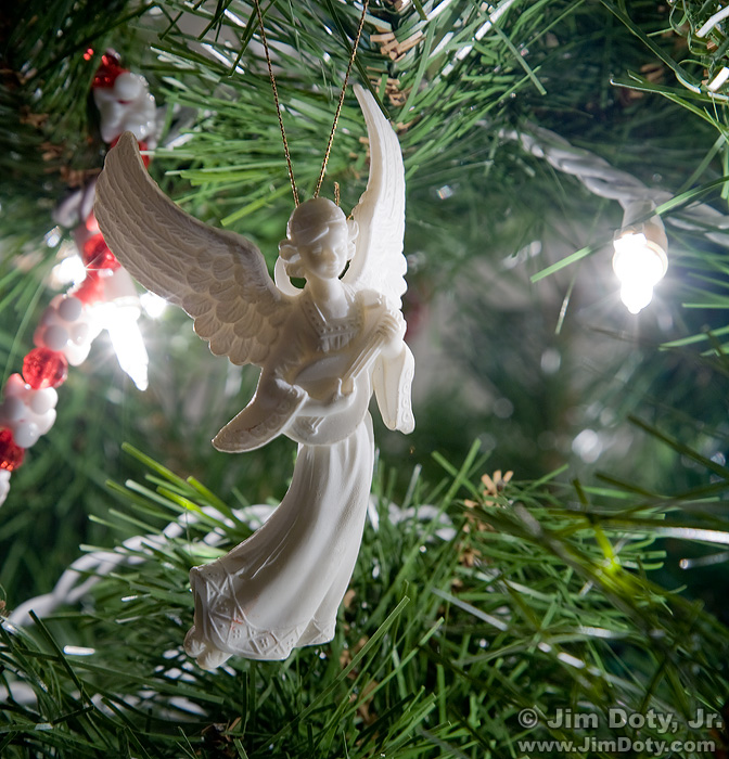 Christmas Angel ornament, Columbus Ohio. January 27, 2011.