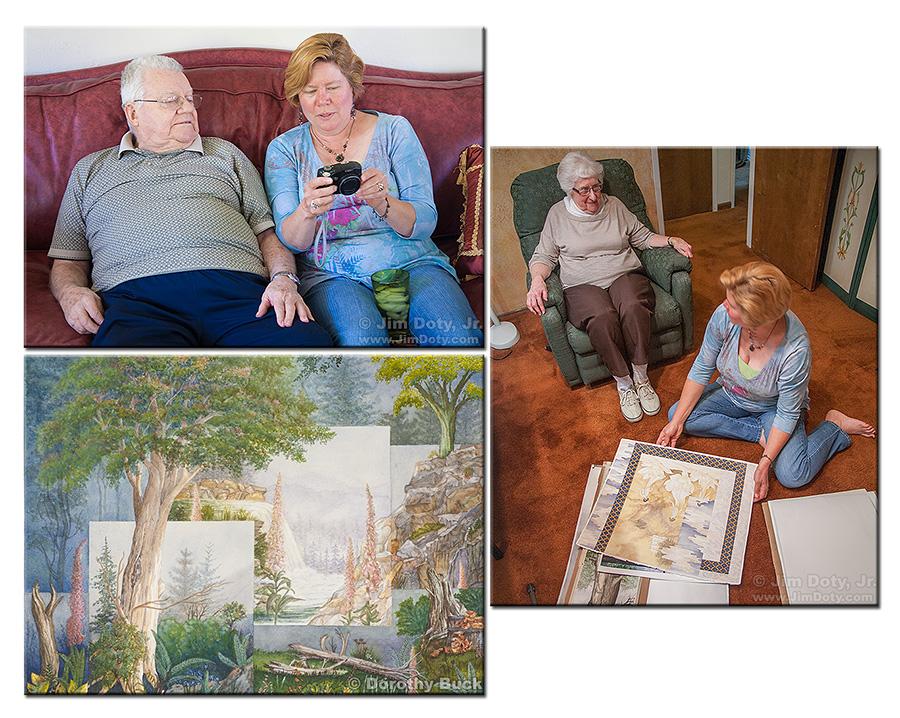 Cliff, Dottie, and Sue, Ukiah California.