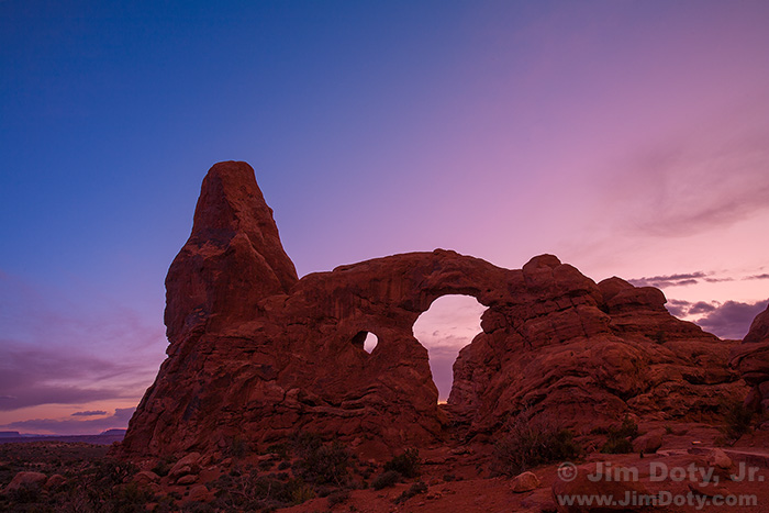 Turret Arch at Dusk, Arches National Park, Utah