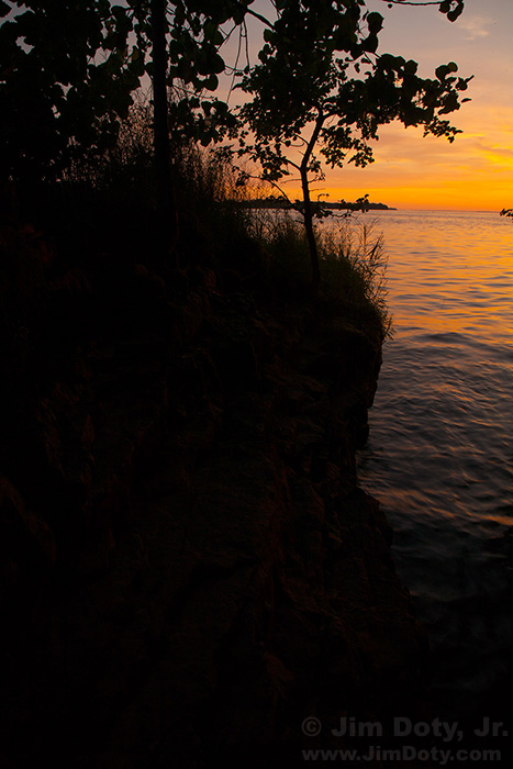 Sunrise, Gibraltar Island. Exposure for the sky and water.