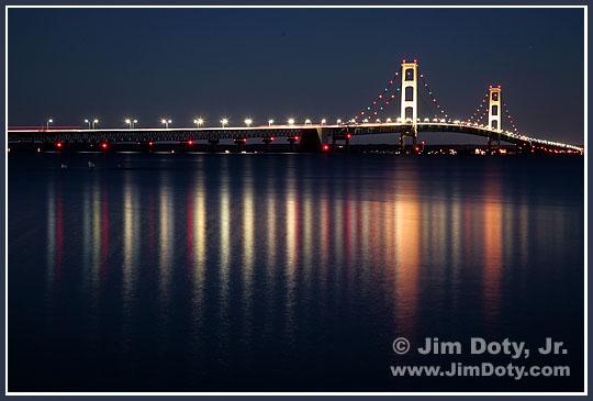 Mackinac Bridge. Photo copyright Jim Doty Jr.