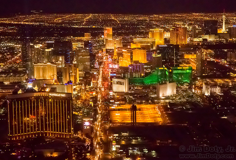 "The Las Vegas ""Strip"" from the Air at Night"