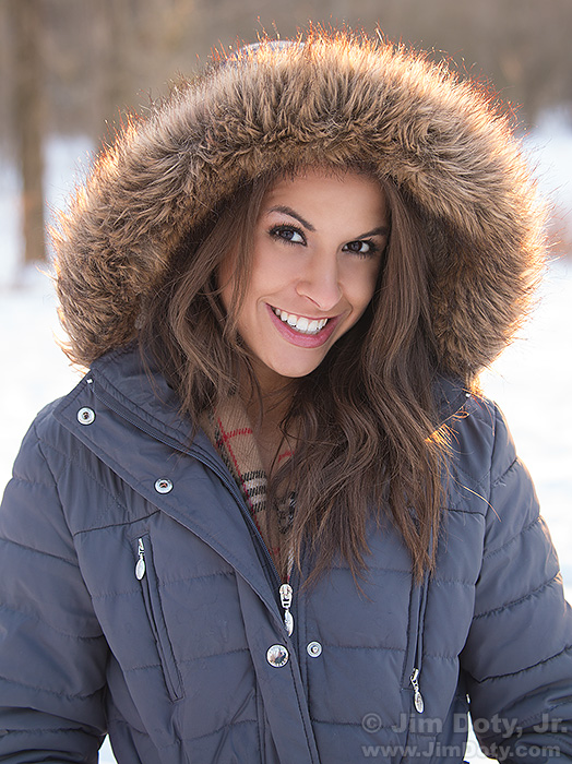 Kristina in the Snow