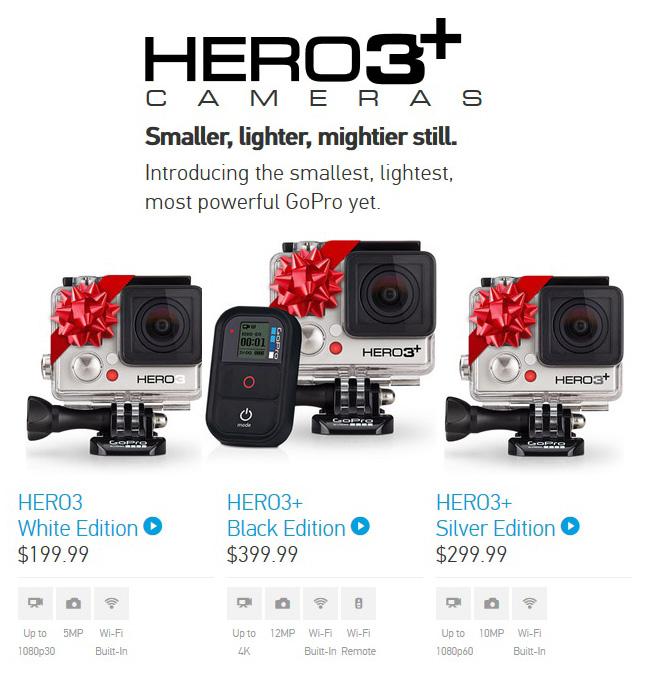 GoPro Hero 3+ Cameras