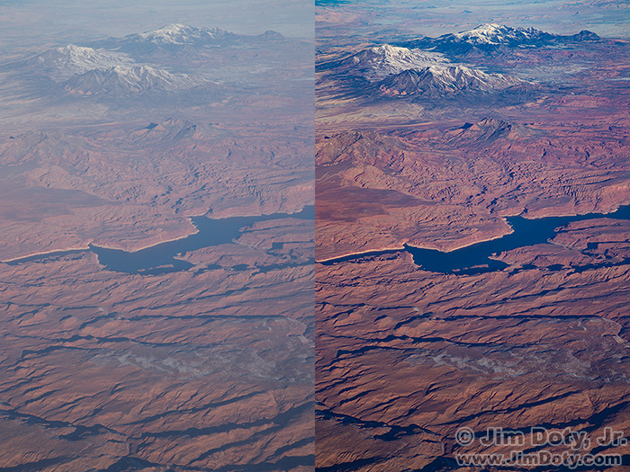 Aerial Photo of the Southern Utah Desert: Before and After ACR