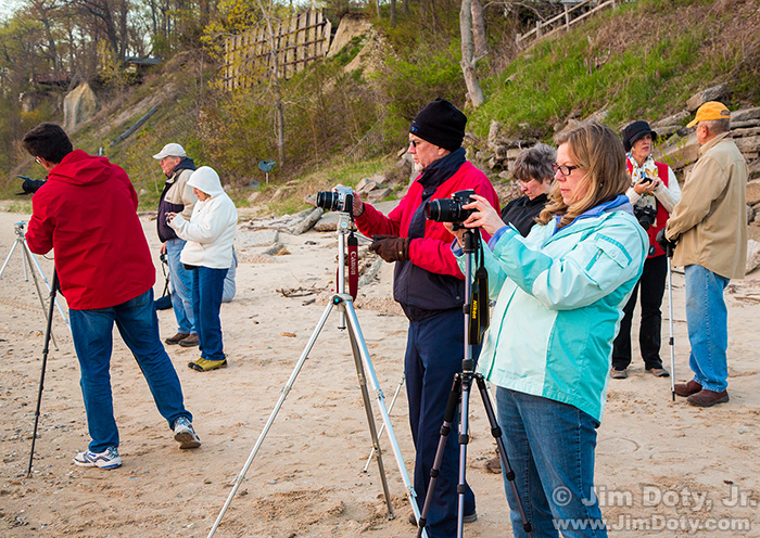 Field trip to Lake Michigan. Photography workshop at Grand Rapids, Michigan.