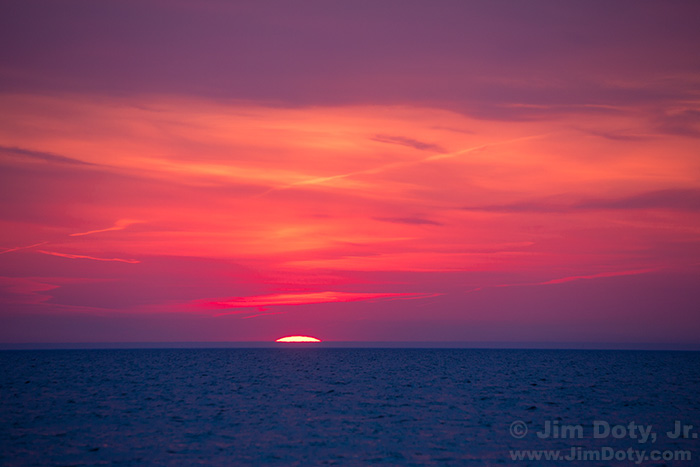 Sunset, Lake Michigan, Glenn Michigan