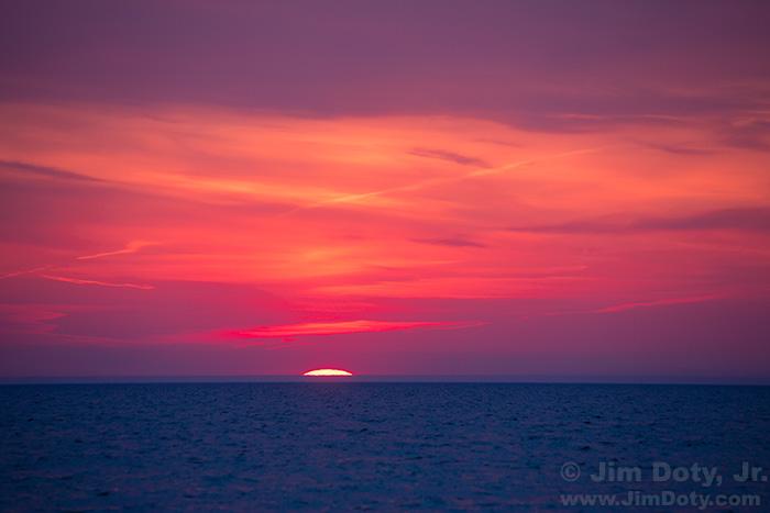 Sunset, Lake Michigan, Glenn Michigan