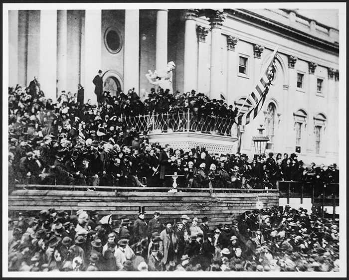 Lincoln's second inaugural address, March 4, 1865.
