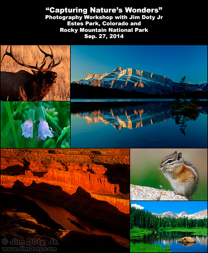 Nature Photography Workshop in Estes Park and Rocky Mountain National Park.