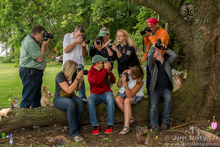 Group portrait, photography workshop, OSU's Gibraltar Island, Lake Erie, Ohio.
