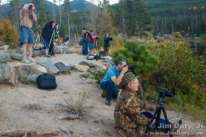 Field trip. Workshop at Rocky Mountain National Park, Colorado.