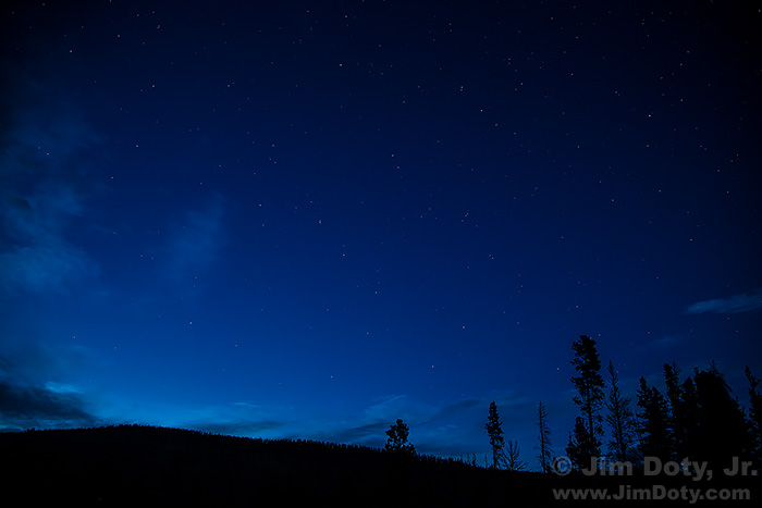 The Night Sky from Sprague Lake