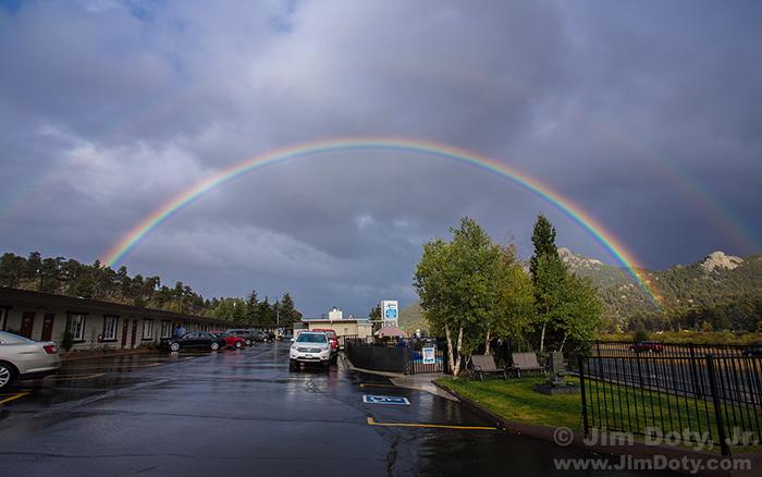 Double Rainbow, Alpine Tail Ridge Inn