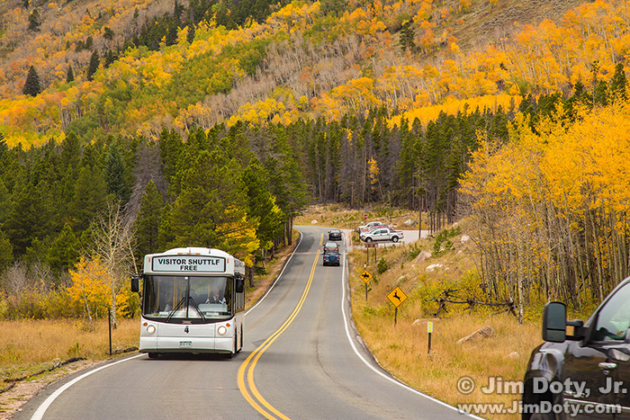 Bear Lake Road in the Fall.