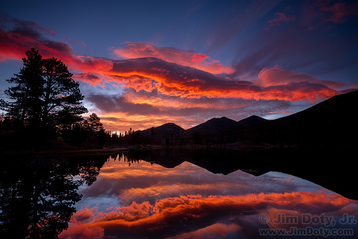 Dawn at Sprague Lake, Rocky Mountain National Park