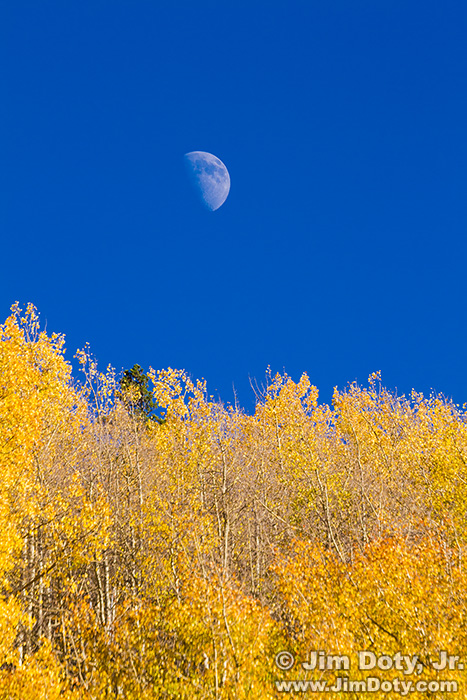 Moon over Aspen, Marshal Pass, Colorado