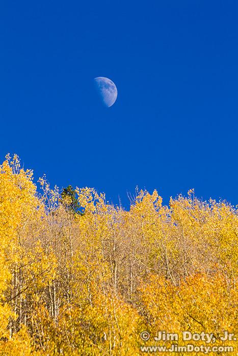 Moon over Aspen, Marshal Pass, Colorado