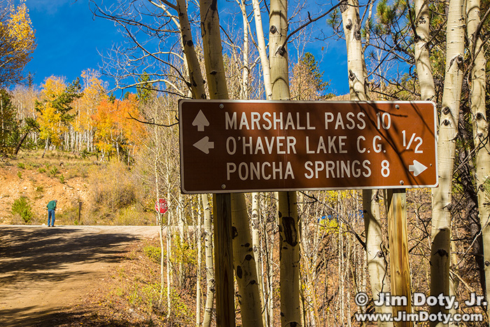 O'Haver Lake and Marshall Pass Sign