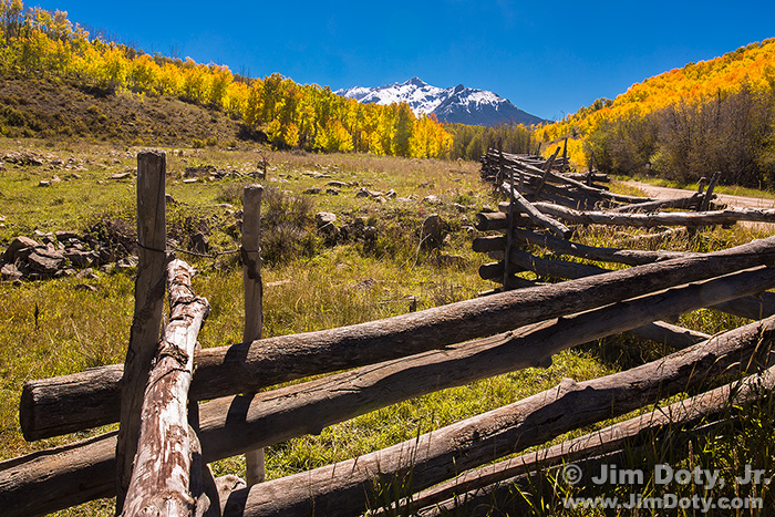 Old Fence and the Sneffels Range, Last Dollar Road. October 3.