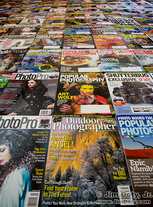 Some of my favorite photography magazines.