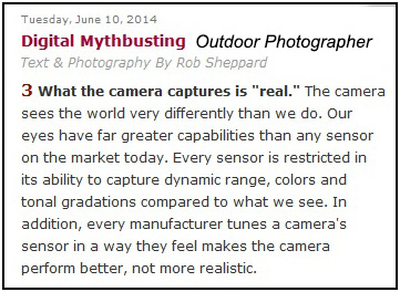 """Digital Mythbusting"", Outdoor Photography"