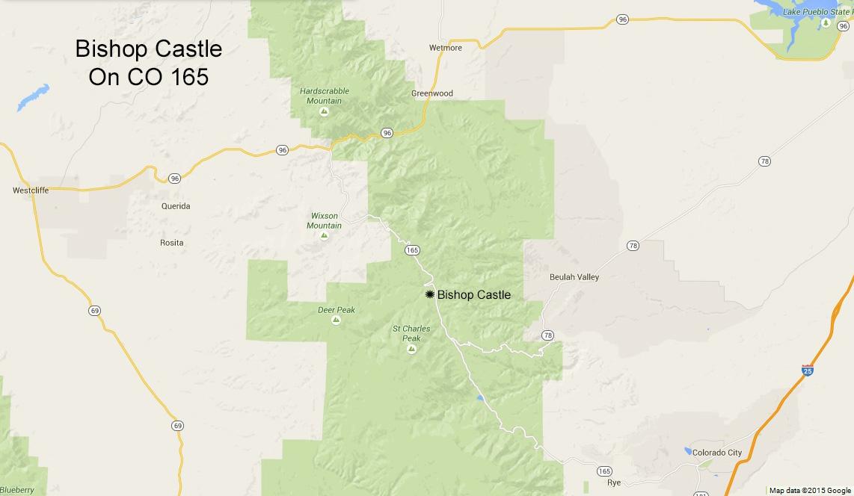Bishop Castle between Westcliffe, Rye, and Pueblo Colorado. Click to see a larger version.