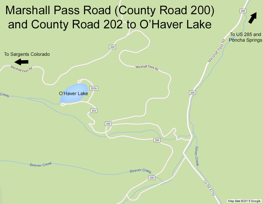 O'Haver Lake and Marshall Pass Road, Colorado. Click to see a larger version.