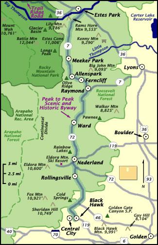 Colorado's Peak to Peak Scenic Byway