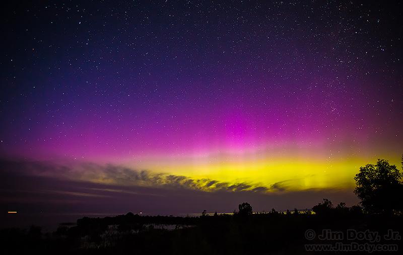 Northern Lights over Lake Michigan.