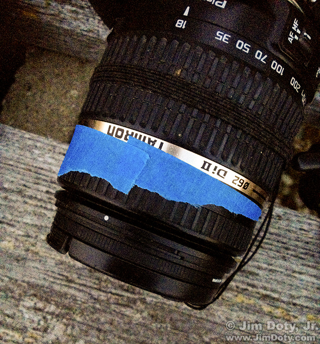 Lens taped at infinity.