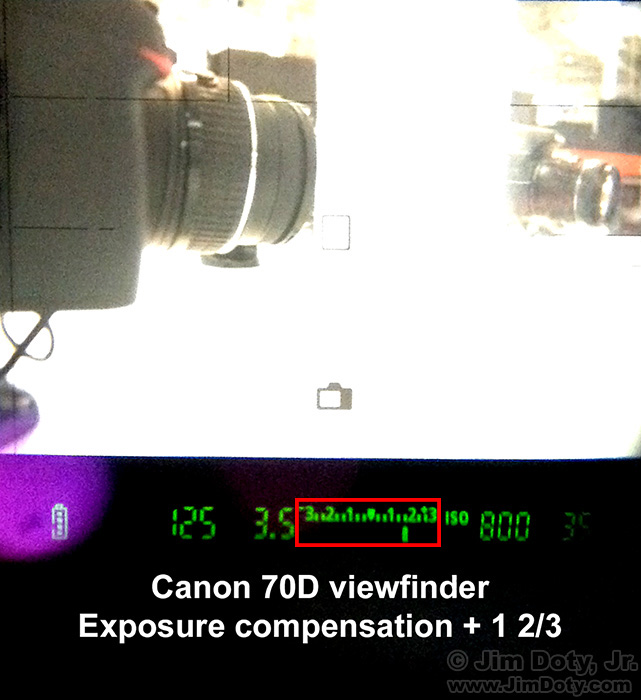 Canon 70D viewfinder