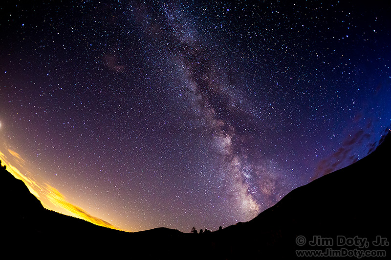 Milky Way from Horseshoe Park, Rocky Mountain National Park,