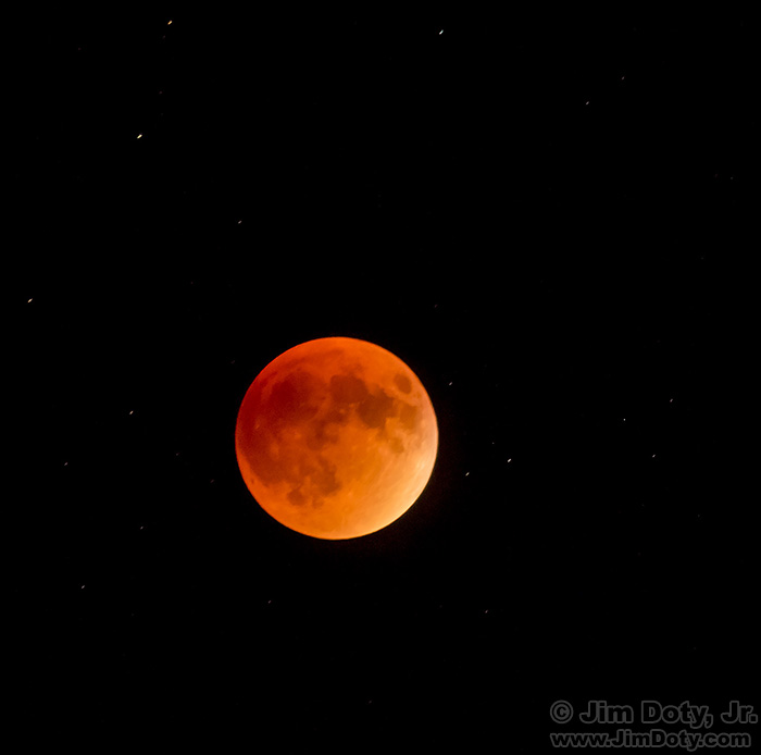"""Blood Moon"" Lunar Eclipse. Night field trip in Horseshoe Park. Photography workshop at Rocky Mountain National Park, Colorado."